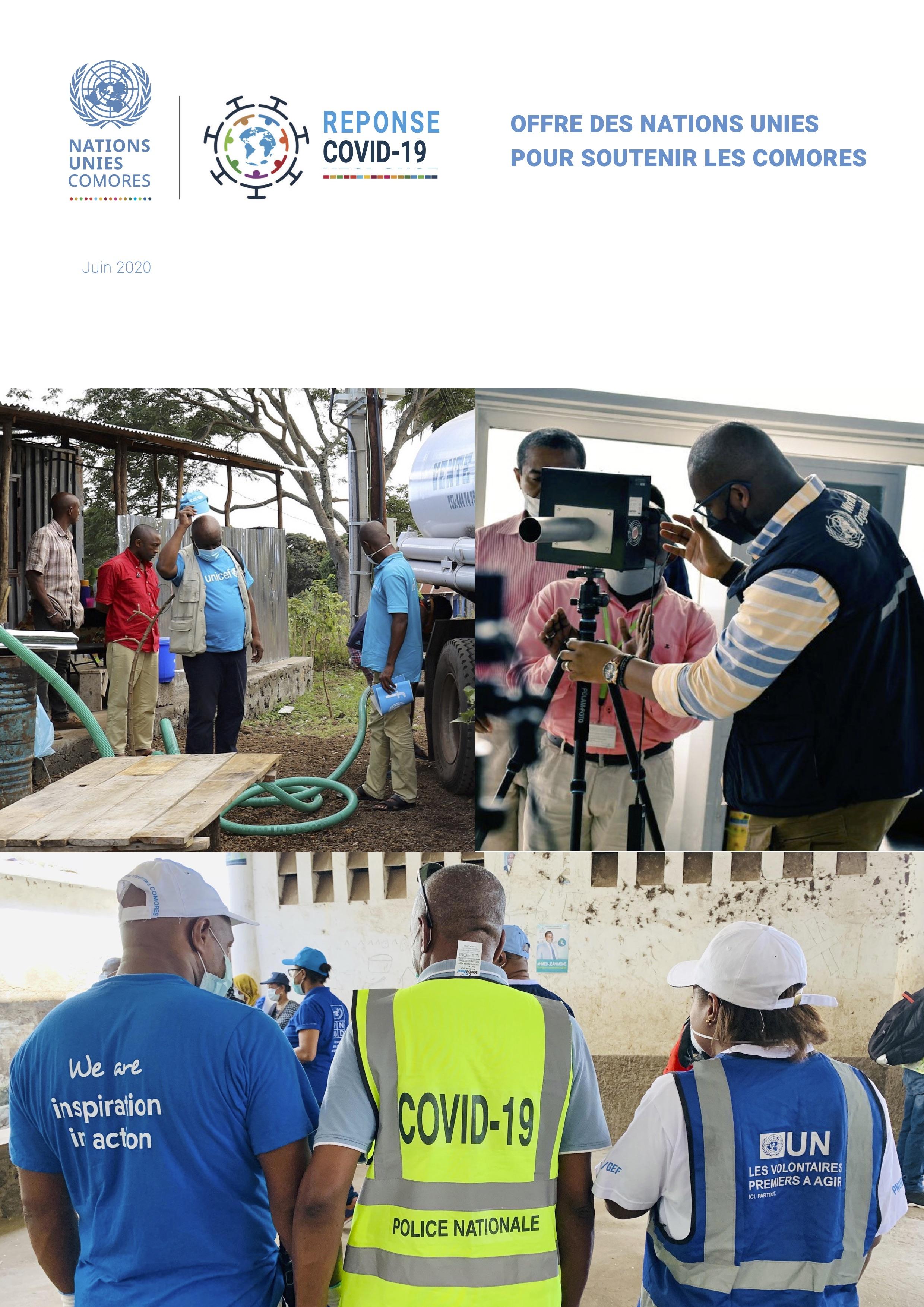 Offre des Nations Unies pour soutenir les Comores dans la pandémie COVID-19